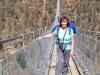 Marianne auf der Hängebrücke