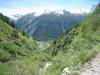 Taleinschnitt des Oberbaches; Bochtenhorn 2474m, Chietalstock 2382m, Mossmattstock 2475m, Distelgrat, Brudelhorn 2790m