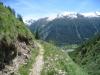 aus dem Taleinschnitt des Oberbaches heraus; Mossmattstock 2475m, Distelgrat, Brudelhorn 2790m