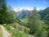 Blick gegen Oberwald; Tällistock, 2861m, Gross - und Chli - Muttenhörner, Saashörner