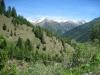 der Taleinschnitt des Milibaches; Tällistock, 2861m, Gross - und Chli - Muttenhörner, Saashörner