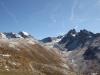 Blick ins Val Muragle; Piz Languard 3175m und  Piz Muragl 3157m