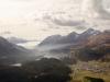 Blick auf das Oberengadin; re Piz Güglia 3380m und Piz Nair 3056m
