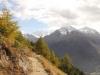 herbstliche Stimmung auf dem Panoramaweg; Piz Palü, Piz Chalchagn 3154m, Piz Boval 3353m
