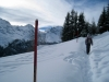 Schneeschuhtrail oberhalb Mürren, Lauterbrunnen Breithorn 3782m, hi Tschingelhorn 3577m,vo Tschingelgrat  3139m