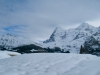 Tschuggen 2521m, Lauberhorn 2472m, Kl. Scheidegg, Eiger 3970m, Mönch 4099m