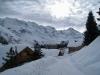 Sicht auf: Aebeni Fluh, Mittagshorn 3897m,  Grosshorn 3762m, Lauterbrunnen Breithorn 3782m