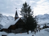 dei schöne Kirche in Mürren; Tschingelgrat  3139m,  Tschingelspitz 3318m