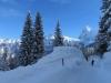 tiefster Winter; Lauberhorn unsdEiger