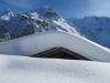 Mönch 4099m, Schwarzer Mönch 2648m, Jungfrau, 4158m,  davor  Schwarzer Mönch 2648m, Gletscherhorn 3983m, Aebeni Fluh, Mittagshorn 3897m