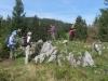 Gruppe beim Aufstieg zur Musenalp