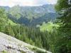 Pfad durch ein Geröllfeld; Gebiet Bärenfallen