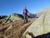 Marianne vor Finsteraarhorn 4247m, Agassizhorn  3943m, Gr.Fiescherhorn 4048m, Ochs,   Lauteraarhorn  4042m