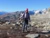 Marianne unterwegs auf dem Nägeligrat; vom Monte Leone bis Oberaarhorn