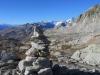 wunderbare alpine Landschaft; Sidelhorn, Vorder Galmihorn 3517m, Hinter Galmihorn 3486m, Pkt.3463m ; dahinter weiss:Gross Wannenhorn 3906m, Oberaar Rothorn 3667m, vo  Nollen 3404m, Fiescher Gabelhorn 3876m,  Oberaarhorn 3637m