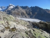 Rhonegletscher; Tiefenstock 3515m, Galenstock 3586m,  Sidelenhorn 3217m, Grosses Furkahorn 3169m, Sidelengrat 3115m, Sidelnengrat P.3043m