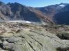 Sidelengrat P.3015m, Klein Furkahorn 3026m; re Gross Muttenhorn 3099m