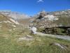 Sicht von der Segneshütte  2102m; Tschingelhörner, Segnespass, Atlas 2927m