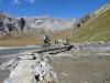 Segnas Sut; beim Wasserfall; Laaxer Stöckli 2760m/ Piz Grisch 2898m, Ofen 2873m, Kl.Tschingelhorn 2846m, Gr. Tschingelhorn 2849m
