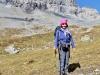 Marianne auf dem Weg zum Segnespass; Tschingelhörner
