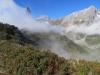 Wolkenfetzen vor: Vorder Eggstock 2449m, Bös Fulen 2802m, Rüchigrat 2506m, Bösbächistock 2914m