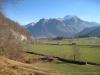 Sicht ins Rheintal; Rotspitz und Falknis