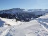 Sicht vom Maschgenkamm 2020m; hinunter zur Maschgenlücke; Guscha 2132m, Steingässler 2251m, Hochgamatsch 2368m, Hochfinselr 2423m; hi Pizol 2844m