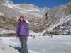 Marianne am gefrorenen Partnunsee 1870m