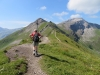 Brigitte unterwegs; Spitz 2186m, Augstenberg 2359m