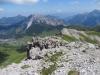 Sicht vom  Weg zum Augstenberg: Gamsgrat; Gratrroute; hi Galinakopf