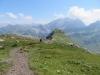 Blick auf den  mi Gorfion 2305m;  berzalimkopf 2340m, Panüeler Kopf 2856m, Salaruelkopf 2841m, Schafberg 2727m, Hornspitz 2537m
