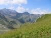 Schwarzhorn 2574m, Vorder Grauspitz 2599m, Samiklaus 2585m, Schmutzli 2566m, Ruchberg 2555m, Falknis 2562m, Falknishorn 2451m, hi Pizol 2844m, vo  Plasteikopf 2356m, Hochspeier 2226m