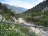 Sicht von  der Bhutanbrücke