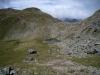 Bergseen auf der Fuorcla Sassalba 2619m mit Piz Muntet 2721m