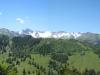 Muntaluna 2422m, Zanaihörner 2821m, Pkt. 2721m, Pizol 2844m, Wildseehorn 2690m, Sichler 2643m, Schwarze Hörner 2645m, vo Schlösslichopf 2226m