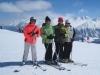 Brigitte, Bruni, Niggi uns Sabina auf dem  Plateau Nair 2656m