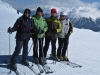 Marianne, Bruni, Niggi und Sabina auf dem  Plateau Nair 2656m