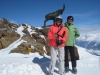 Brigitte und Bruni auf den Piz Nair 3057m, St. Moritz