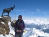 Marianne auf den Piz Nair 3057m, St. Moritz