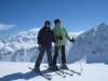 Marianne und Bruni auf der Fuorcla Grischa 2964m mit Piz Nair 3057m