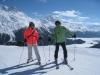 Brigitte und Bruni vor dem Piz Corvatsch 3451m