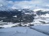 die Standseilbahn auf Muottas Muragl  2093m; Blick auf die Engadinerseen
