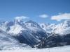 Blick auf Bella Vista, Bernina, ; Rosegtal: La Sella 3584m, (zwei Gipfel), Piz Güschaint 3594m, La Muongia 3415m,