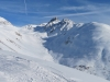 Sicht von Muottas Muragl 2093m; Forcla Muragl 2891m,  Piz Languard 3175m,  Piz Muragl 3157m