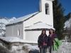 Kapelle auf Fex Cresta; Marianne und Bruni