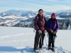 Bruni und Marianne auf dem Regelstein 1310m; Säntismassiv und Churfirsten