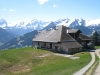 Gspan 1554m Alphütte; Spitzhorn 2606m, Arpelistock  3036m, les Montons 2564m, Sanetschhorn 2924m -  vo Schluchhorn 2579m, Gstellihorn 2818m  - Oldenhorn 3123m, les Diablerets 3110m