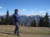 Marianne auf dem Rellerli  1831m; Hinderi Spillgerte 2476m,hi Eiger 3970m, Mönch 4107m, Jungfrau 4185m, vo Gsür 2708m. Albristhorn 2763m