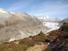 Aletschgletscher;  Rothorn 3271m, Olmenhorn 3314m, Gross Grünhorn  4043m, Fiescherhörner, Gross Wannenhorn 3905m, Klein Wannenhorn 3706m, Strahlhorn 3026m, Oberaarhorn 3637m