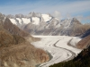 Aletschgletscher; Gross Wannenhorn 3905m, Klein Wannenhorn 3706m, Strahlhorn 3026m, Oberaarhorn 3637m